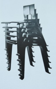 Charlotte Perriand, chaises OMBRES empilées, 1954