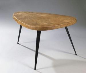Charlotte Perriand, Table haute MEXIQUE, fabrication Ateliers Jean Prouvé et André Chetaille, 1953