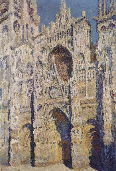 Claude Monnet, La Cathédrale de Rouen. Le Portail et la tour Saint-Romain, plein soleil, 1893