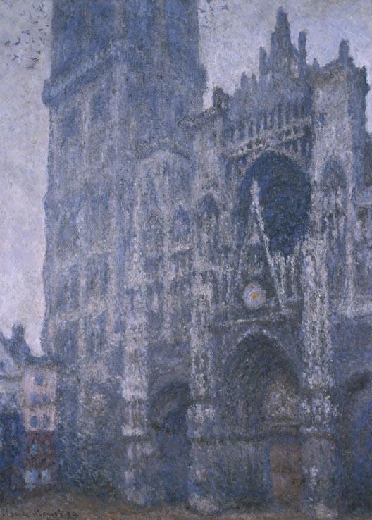 Claude Monnet, La Cathédrale de Rouen. Le Portail et la tour d'Albane. Temps gris, 1894