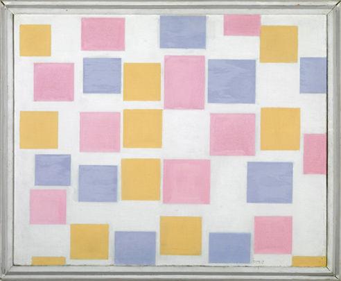 Piet Mondrian, Composition avec plans de couleur 2, 1917