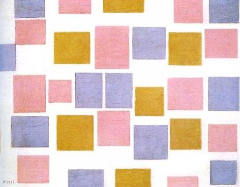 Piet Mondrian, Composition avec plans de couleur 2, autre oeuvre de la série, 1917