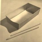 Tiroir coulissant en tôle pliée, 1949