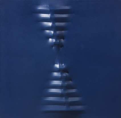 Augusto BONALUMI, bleu, sans titre