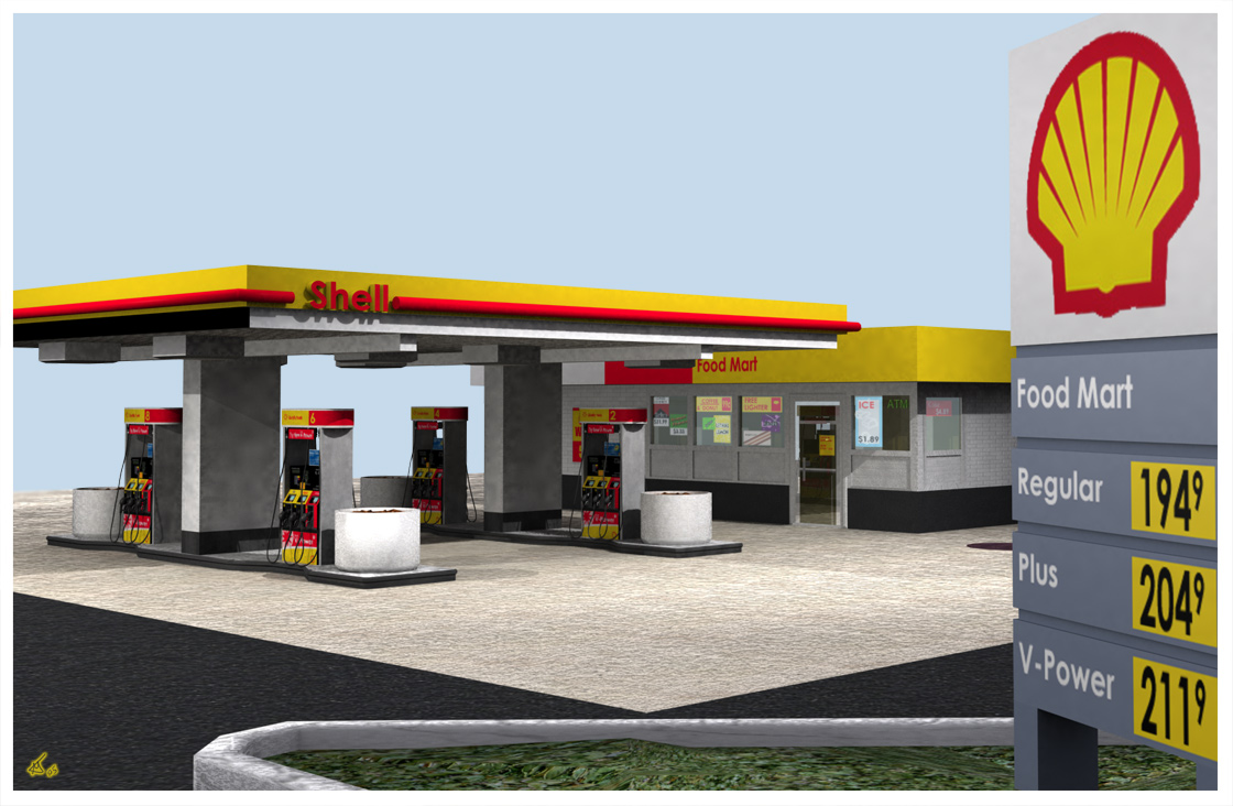 Shell, station service