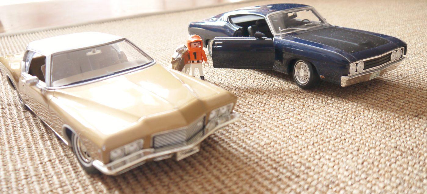 Buick Riviera GS, 1971 et Ford Torino Talladega, 1969