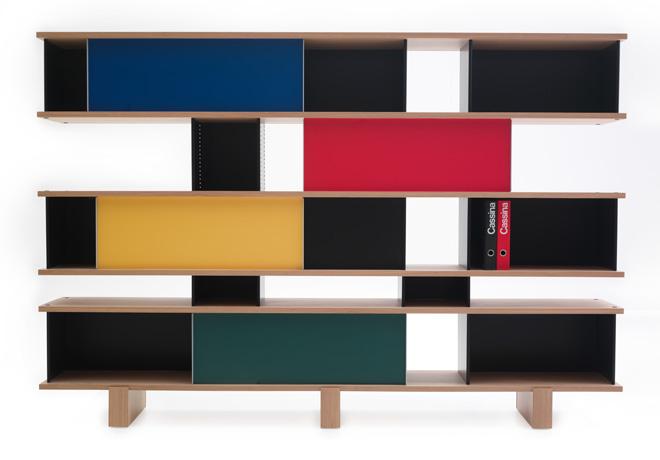 Charlotte Perriand, réédition système de rangements NUAGE, Cassina 2012