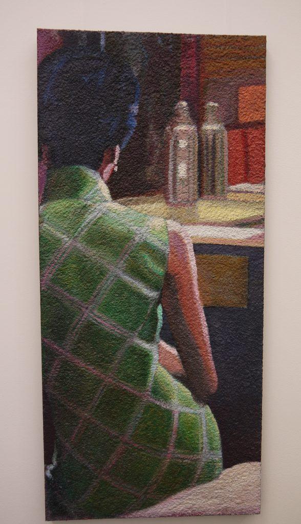 """Claude Gazier, Maggie Cheung - 3, 2012,""""effet granulat en pointe"""""""
