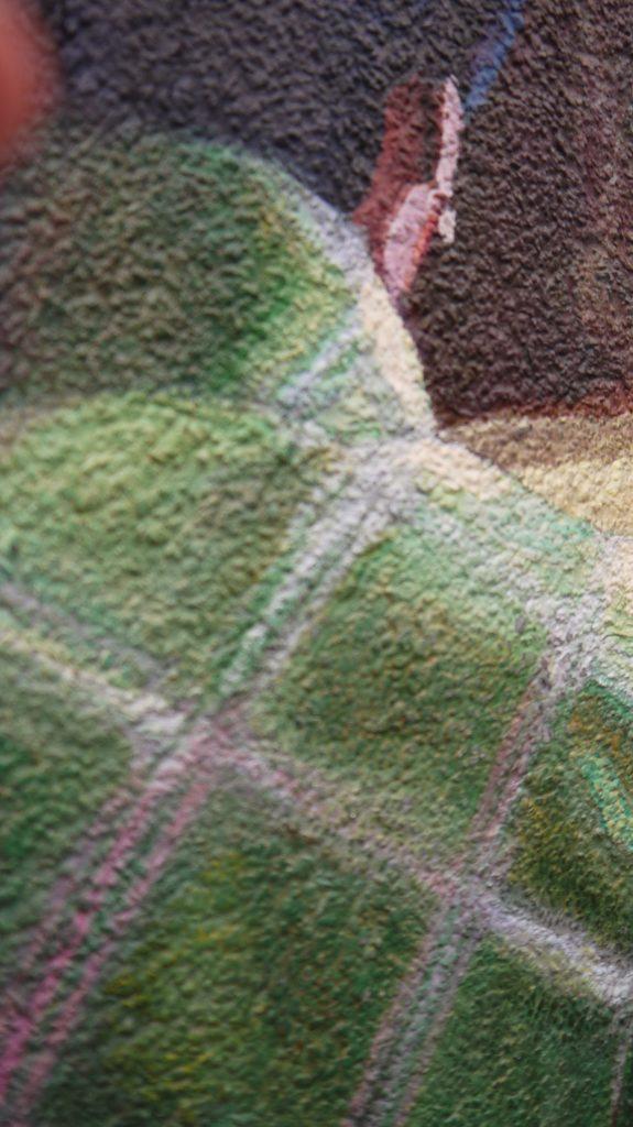 """Claude Gazier, Maggie Cheung - 3, 2012,"""" effet granulat en pointe, vue de près"""""""