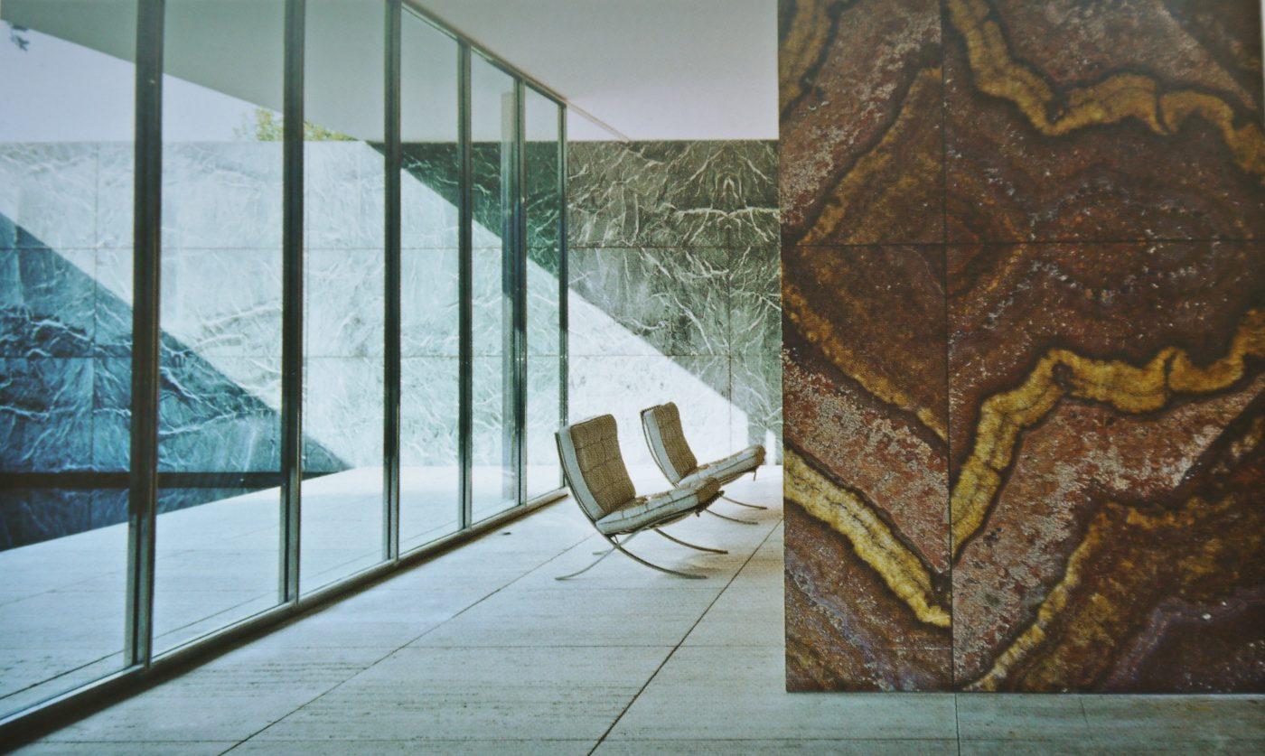Ludwig Mies Van Der Rohe, Pavillon de l'Allemagne pour l'Exposition Universelle Barcelone, Espagne, 1928-1929 ; reconstruit en 1983-1986