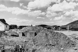 Lewis Baltz, Park City 45 (Prospector Village, Lot 105, looking North), 1979