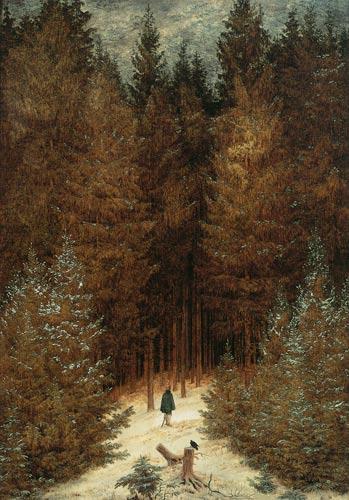 Caspar David Friedrich, Le Chasseur dans la forêt, 1814