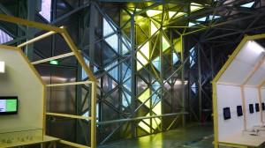 Saint-Etienne, Biennale Design 2013, vue intérieur bâtiment La Platine
