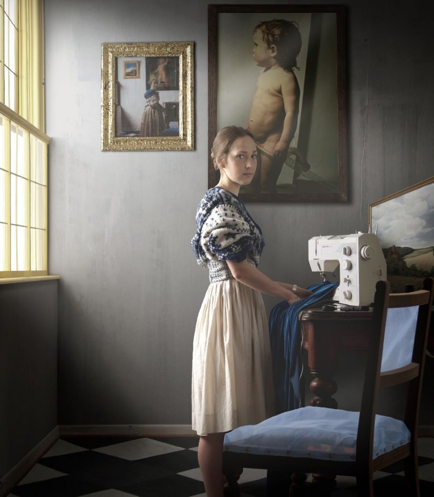 Maisie Broadhead, Standing at a Machine, 2011