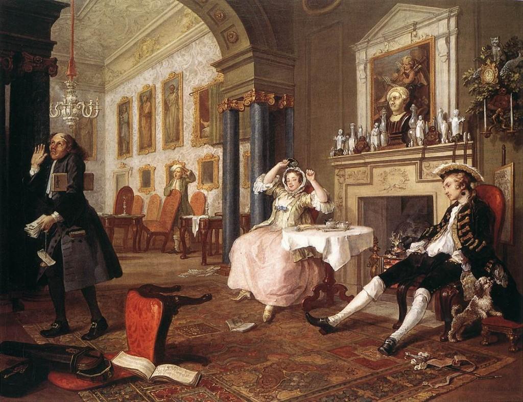 William Hogarth, Mariage à la Mode - The Tête à Tête - tableau n°2 de la série