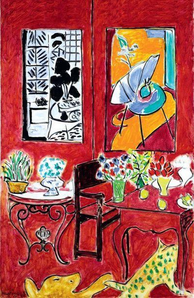 Henri Matisse, Grand Intérieur rouge, dernier tableau de la série des six grands intérieurs symphoniques de Vence, 1948