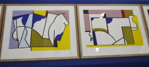 Roy Lichtenstein, Bull III et IV, from the Bull Profile series, vue de l'exposition