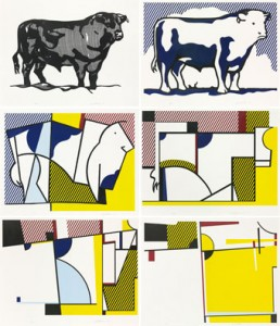 Roy Lichtenstein, Bull Profile Series, 1973