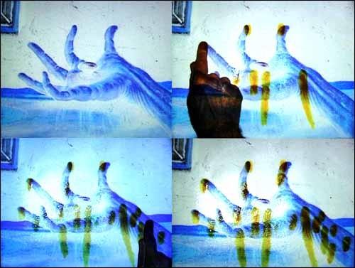 Sarkis, Au commencement le toucher, 2005 - capture écran vidéo
