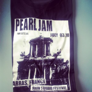 Pearl Jam, concert 3 juillet 2010 à Arras