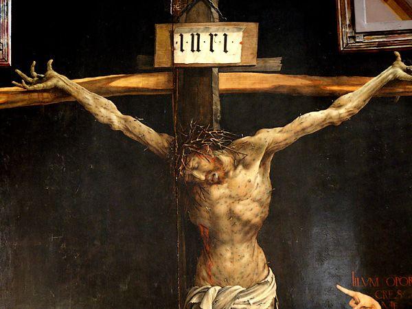 Mathias Günewald, Retable d'Issenheim, vers 1510-1516 - Crucifixion (détail-), Musée d'Unterlinden, Colmar