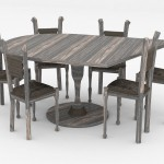 Mélanie Buatois, Projet Vie en meute, chaises et table