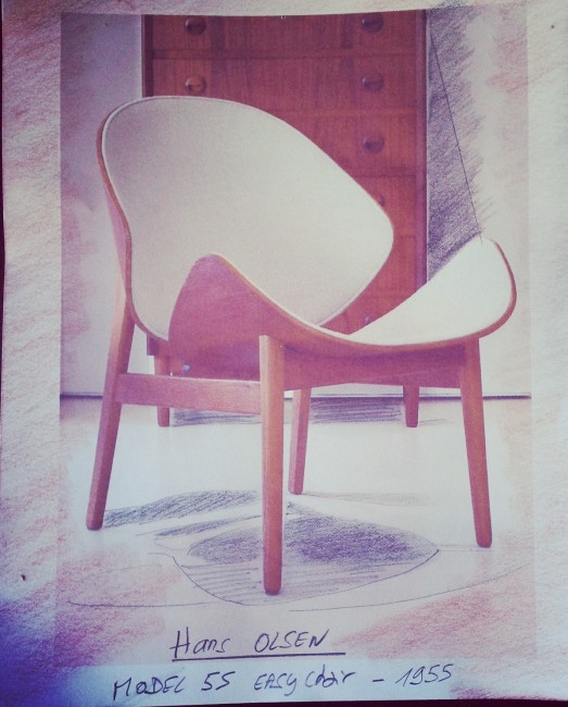 """Hans Olsen, Model 55 """"Easy chair"""", 1955"""