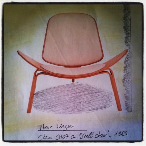 "Hans Wegner, Chaise CH07 ou ""Shell chair"", 1963"