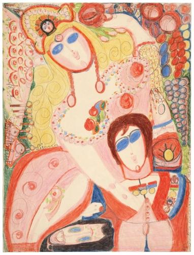 Aloïse Corbaz, Napoléon, 1943, Collection de l'Art Brut, Lausanne