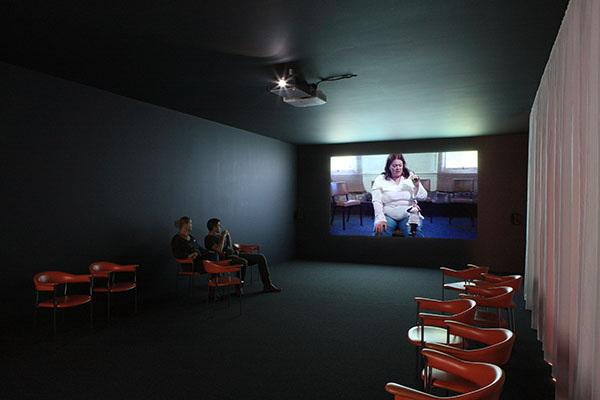 jJavier Téllez, vue de l'installation vidéo Praise of Folly.