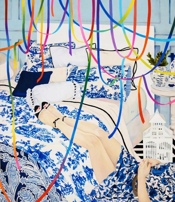 Naomi Okubo, peinture, 2013.