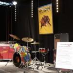 Foire de Lyon 2014, expo Rock, vue d'une installation : instruments de musique des membres du Groupe Téléphone