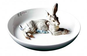 Hella Jongerius, Lièvre assiette pour Kreo, édition illimitée