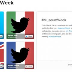 Pari réussi pour la première semaine des musées sur Twitter