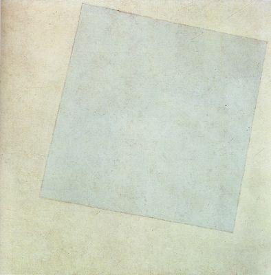 Kasimir Malevitch, Carré blanc sur fond blanc,1918