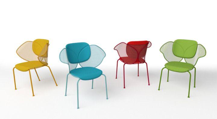 Chaises Elitre, chez Area Declic, Design David Raffoul & Philippe Bestenheider