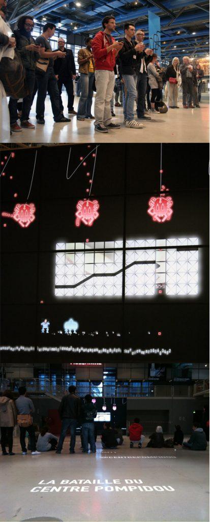 Florent Deloison, La bataille du Centre Pompidou, nuit des musées 2011.