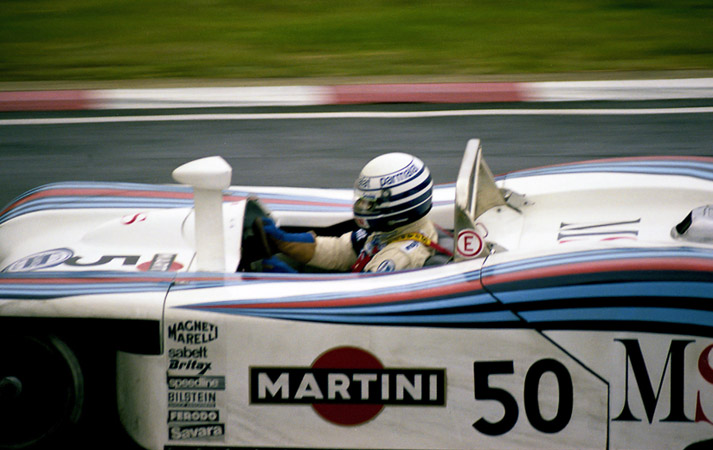 Martini Lancia LC1, en action sur le circuit de Brands Hatch