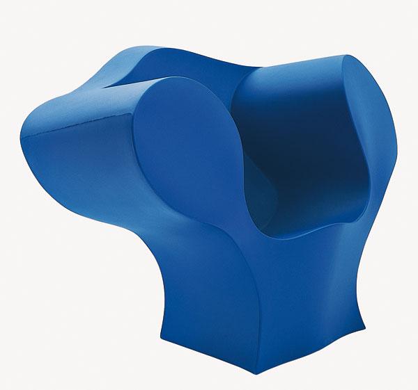 Ron Arad, fauteuil Big E, 2003 Polyéthylène recyclable rotomoulé monobloc 94x 133 x 88 cm ; 25 kg Éditeur Moroso, Cavalicco-Udine, Italie