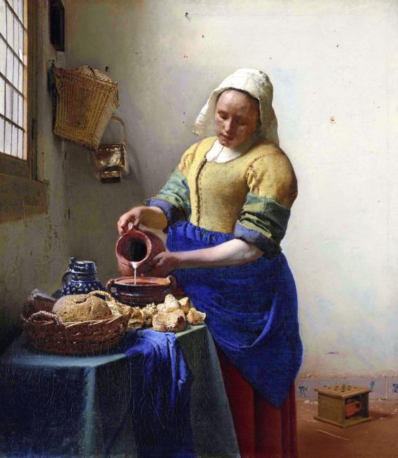 Johannes Vermeer, La Laitière, vers 1658
