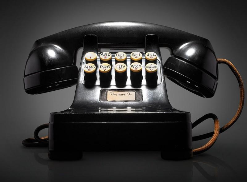 Le prototype du téléphone à touche, 1948