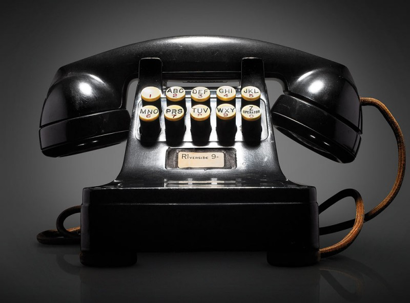 Prototype of push-button telephone, 1948