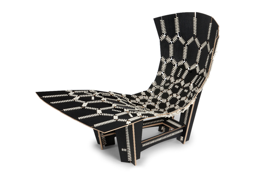 Pirwi, chaise KNIT. Design : Emiliano Godoy.