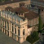 Vue aérienne du Palazzo Madama, Torino, Italie