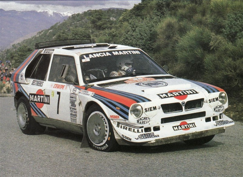 Lancia Delta Martini S4, World Rallye Championishp, 80's. Another time...