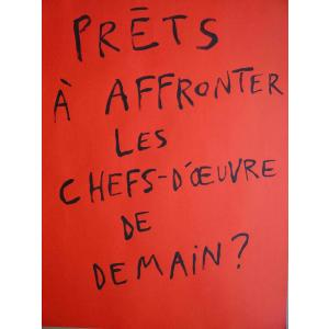 Affiche du 54ième Salon d'Art Contemporain de Montrouge