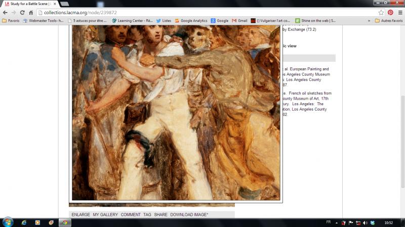 Henri Scheffer, Study For a Battle Scene, vers 1830. Image aggrandie, options de téléchargement et partage. Lacma