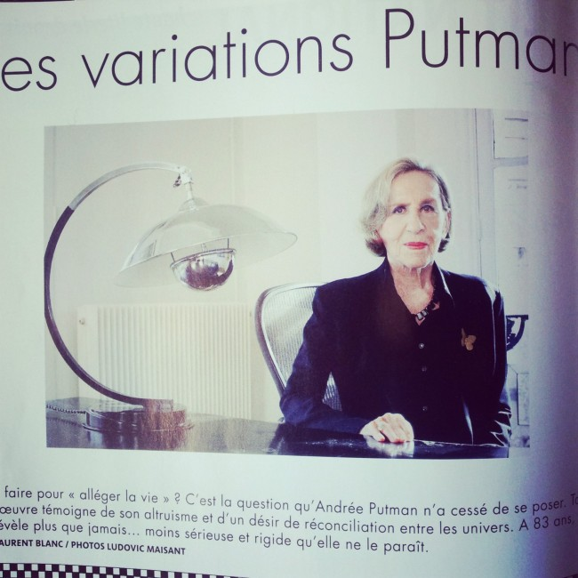 Andrée Putman en 2009. Interview dans le n°69 du magazine IDEAT.
