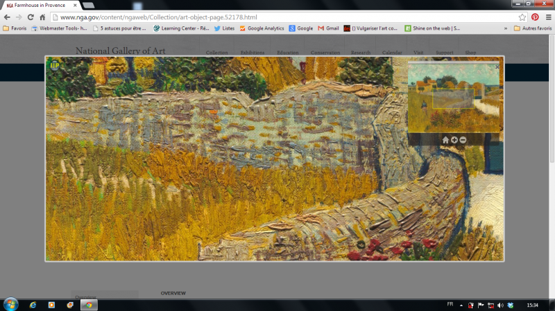 National Gallery of Art, Zoom sur une oeuvre de Vincent Van Gogh