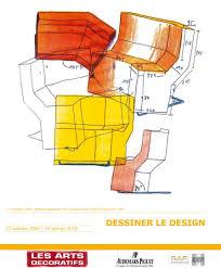 Konstantin Grcic, dessin préaparatoire pour le sièhe Chaos, édition ClassiCon, 1989